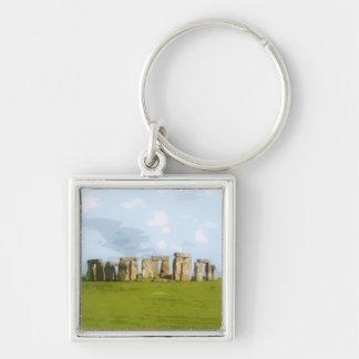 Stonehenge Stone Circle Monument Keychain