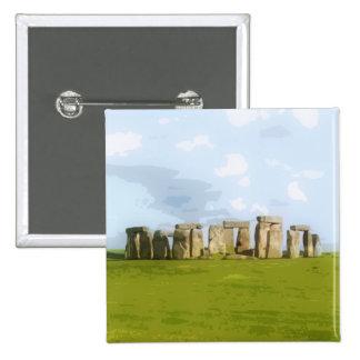 Stonehenge Stone Circle Monument Pinback Button