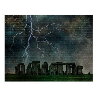 Stonehenge Storm Postcard