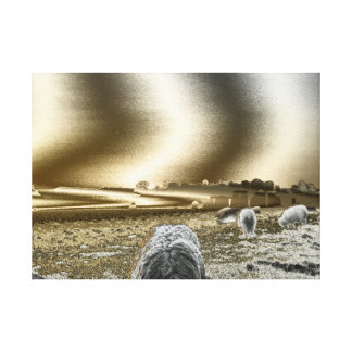 Stonehenge Sun Waves On Canvas Stretched Canvas Prints