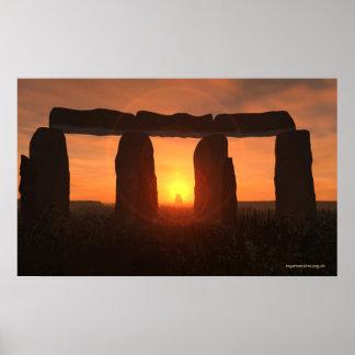 Stonehenge Sunrise Poster