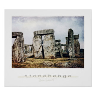 Stonehenge Watercolor Art Print