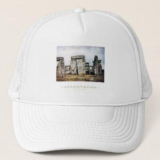 Stonehenge Watercolor Art Trucker Hat