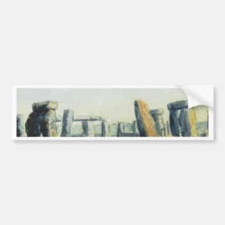 Stonehenge Watercolours Bumper Sticker