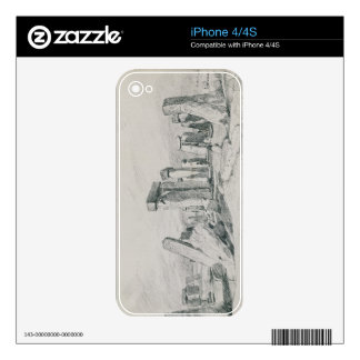 Stonehenge, Wiltshire, 1820 (drawing) Decals For The iPhone 4S