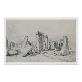 Stonehenge, Wiltshire, 1820 (drawing) Poster