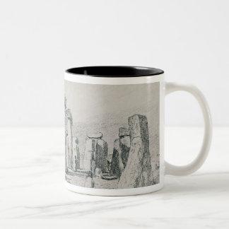 Stonehenge, Wiltshire, 1820 (drawing) Two-Tone Coffee Mug