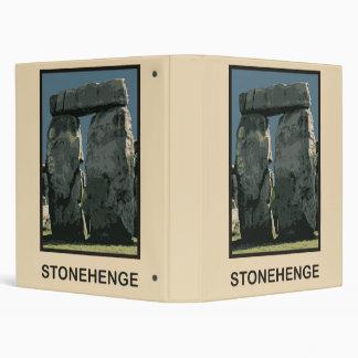 Stonehenge Wiltshire county UK 3 Ring Binder