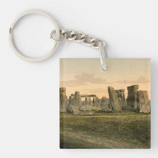Stonehenge, Wiltshire, Inglaterra Llavero Cuadrado Acrílico A Doble Cara