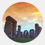 Stonehenge, Wiltshire, Inglaterra Etiquetas Redondas
