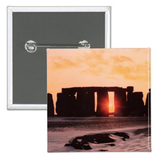 Stonehenge, Winter Solstice 2 Inch Square Button