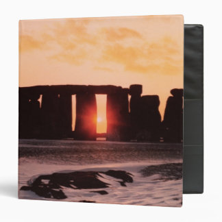Stonehenge, Winter Solstice 3 Ring Binder