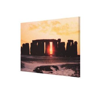 Stonehenge, Winter Solstice Canvas Print