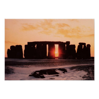 Stonehenge Winter Solstice Poster