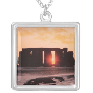 Stonehenge, Winter Solstice Silver Plated Necklace