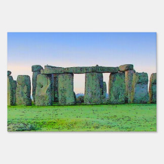 Stonehenge Yard Sign
