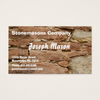 stonemason -  construction business card