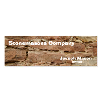stonemason Double-Sided mini business cards (Pack of 20)