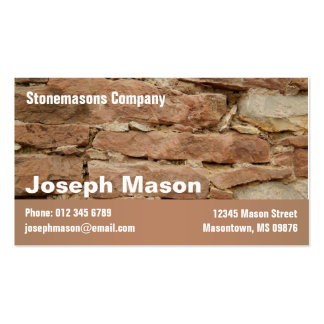 stonemason Double-Sided standard business cards (Pack of 100)