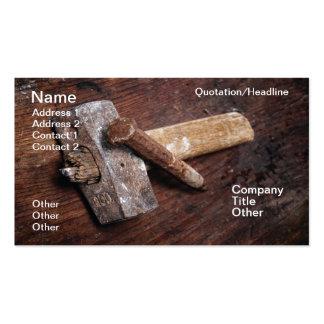 Stonemason tool business card