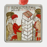 Stonemasons, from 'Traite d'Arpentage' Christmas Ornaments