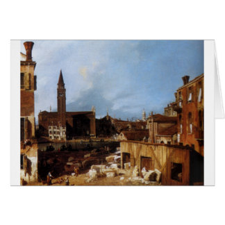 Stonemason's Yard by Canaletto Card