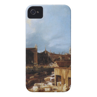 Stonemason's Yard by Canaletto iPhone 4 Cover