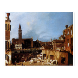 Stonemason's Yard by Canaletto Postcard