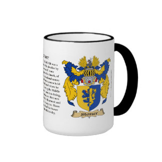 Stoner Family Coat of Arms Ringer Coffee Mug