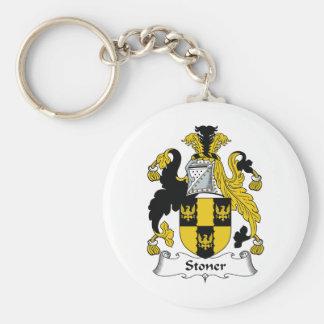 Stoner Family Crest Basic Round Button Keychain