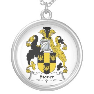 Stoner Family Crest Round Pendant Necklace