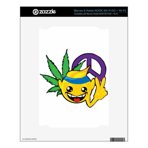 stoner peace sign decal for NOOK