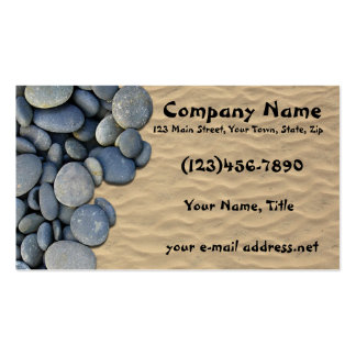 Stones and sand business card