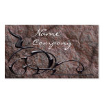 Stones and Swirls Elegance Double-Sided Standard Business Cards (Pack Of 100)