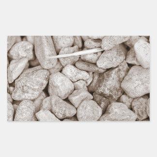 Stones and Wood Rectangular Sticker