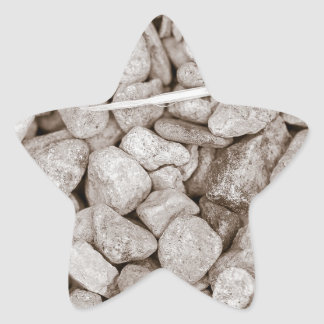 Stones and Wood Star Sticker