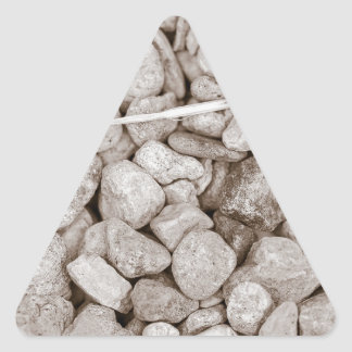 Stones and Wood Triangle Sticker