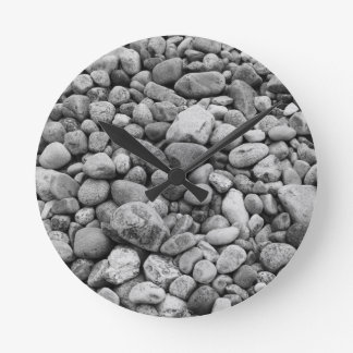 Stones at the Baltic Sea grey Round Clock