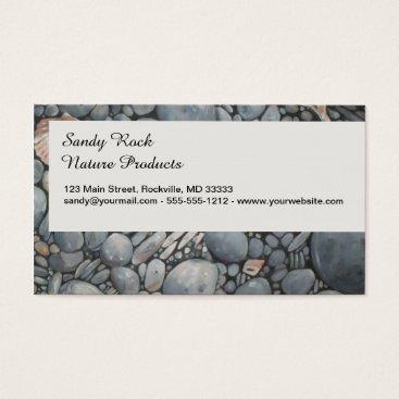Beach Themed Stones Beach Pebbles Rocks Business Card