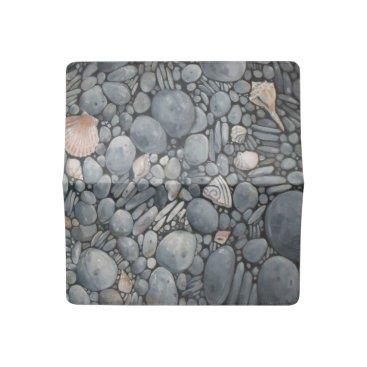 Beach Themed Stones Beach Pebbles Rocks Checkbook Cover