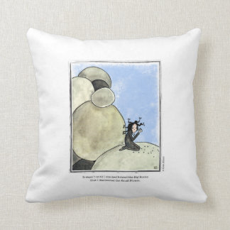 STONES cartoon by Ellen Elliott Throw Pillow