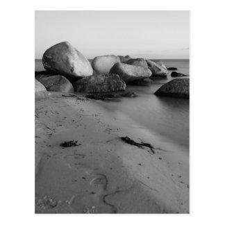Stones en the sea postales