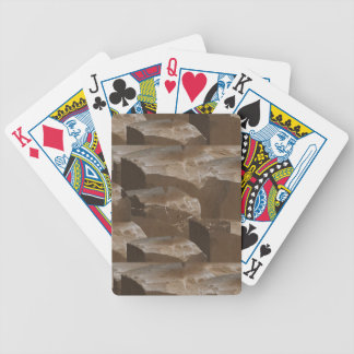 Stones Holy Church Wall Pattern Spiritual Decor 99 Bicycle Playing Cards