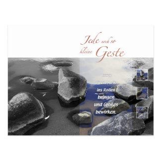 Stones in roll bring postcard