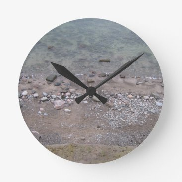 Christmas Themed Stones in the Baltic Sea Round Clock