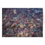 Stones in the lake at Glacier National Park Greeting Cards