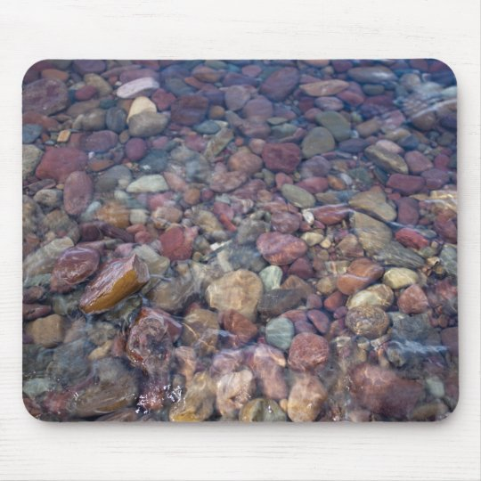 Stones in the lake at Glacier National Park Mouse Pad