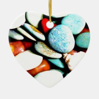 Stones in the Sands Ceramic Ornament