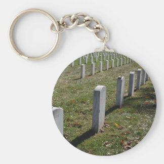 Stones laid to rest on Jewish soldier headstones Key Chains