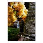 Stones near the Yellow Tree Greeting Card